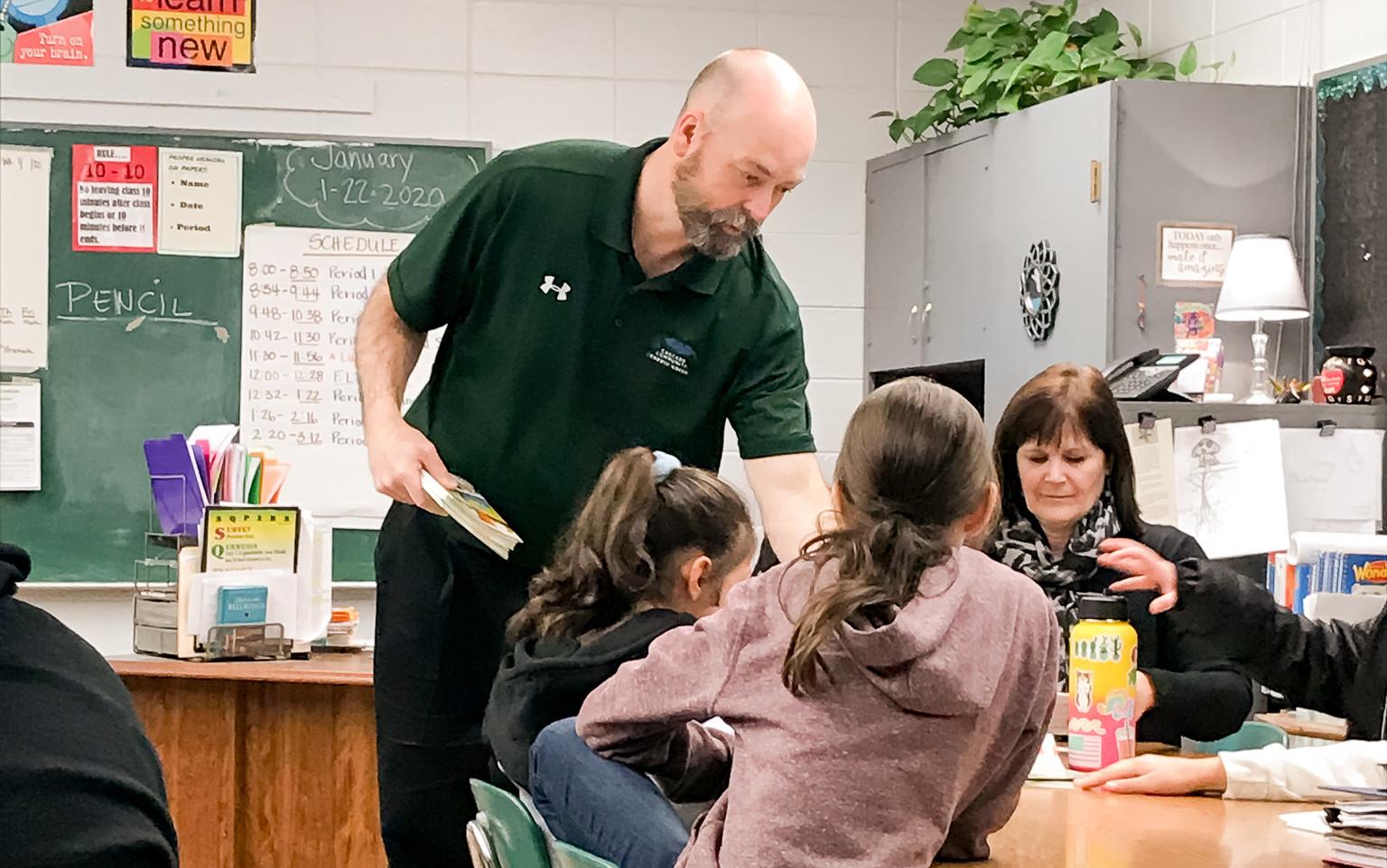 Gary in classroom